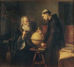 Parra_Galileo spiega le sue teorie astronomiche a un monaco